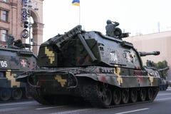 KYIV, DE OEKRAÏNE - AUGUSTUS 24, 2016: Militaire parade in Kyiv, gewijd aan de Onafhankelijkheidsdag van de Oekraïne De Oekraïne  Royalty-vrije Stock Foto