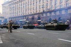 KYIV, DE OEKRAÏNE - AUGUSTUS 24, 2016: Militaire parade in Kyiv, gewijd aan de Onafhankelijkheidsdag van de Oekraïne De Oekraïne  Royalty-vrije Stock Afbeelding