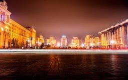 KYIV, DE OEKRAÏNE - DECEMBER 18, 2015: Onafhankelijkheidsvierkant - het centrale vierkant van Kyiv Royalty-vrije Stock Fotografie