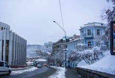 Kyiv, de Oekraïne, die stad gelijk maken Cityscape, stedelijke architectuur royalty-vrije stock foto