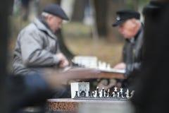 KYIV, de OEKRAÏNE - 18 Oktober 2015: Het Shevchenko-Park is de populairste plaats in Kiev Royalty-vrije Stock Fotografie