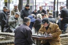 KYIV, de OEKRAÏNE - 18 Oktober 2015: Het Shevchenko-Park is de populairste plaats in Kiev Stock Fotografie