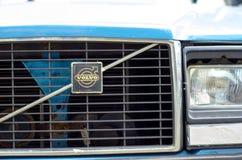 Kyiv, de Oekraïne - September 30, 2018: Oud Volvo-Embleem royalty-vrije stock afbeelding