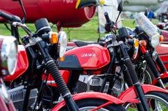 Kyiv, de Oekra?ne - Mei 11, 2019: Oude JAWA-Motorfiets stock foto