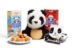 KYIV, de OEKRAÏNE - Oktober 04, 2015 Redactiefoto van Hello-Panda Royalty-vrije Stock Foto's