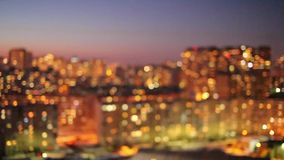 Kyiv district at the evening stock footage