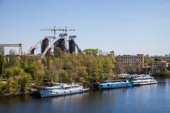 Kyiv, Dnieper river Stock Photography