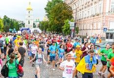 Kyiv dobroczynności Cisawy bieg 2018 w Kyiv, Ukraina Zdjęcia Royalty Free