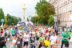 Kyiv dobroczynności Cisawy bieg 2018 w Kyiv, Ukraina Obraz Royalty Free