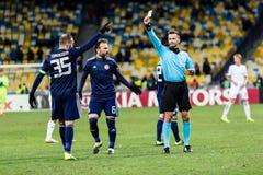 "Kyiv för UEFA Europa Leaguefotbollsmatchdynamo †""Olympiakos FC, Februari 22, 2019 arkivbild"