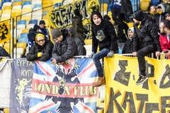 """Kyiv för dynamo för fotbollsmatch för UEFA-Europaliga †""""AEK, Februari Royaltyfri Bild"""