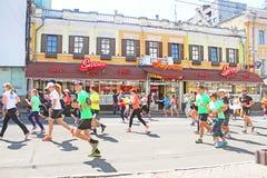 Kyiv half marathon was held in Kyiv, Ukraine Royalty Free Stock Photos