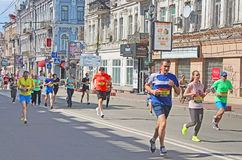 Kyiv half marathon was held in Kyiv, Ukraine Stock Photography