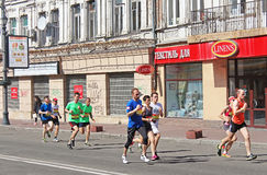 Kyiv half marathon was held in Kyiv, Ukraine Royalty Free Stock Photography
