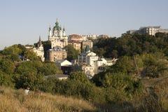 Kyiv hills (Andriyivsky Uzviz) Stock Image