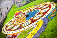 Kyiv Horloge de fleur Images libres de droits