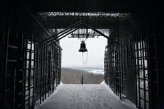 Kyiv l'ukraine La cloche commémorative aux victimes de la famine chronomètre 1932-1933 Image stock