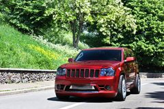 Kyiv l'ukraine 18 septembre 2012, Jeep Grand Cherokee SRT8 image stock