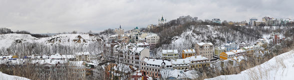 Kyiv landscape. View of Kyiv from the mountain Dytynka Royalty Free Stock Photos