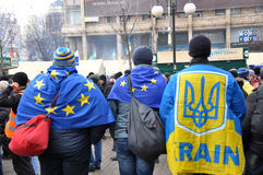 Kyiv Maidan革命Advantages_140 库存照片