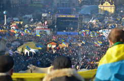 Kyiv. Maydan. Mass meeting on Independence Square in Kiev. Ukraine. Editorial Royalty Free Stock Photo