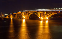 Kyiv Metro bridge Royalty Free Stock Photos