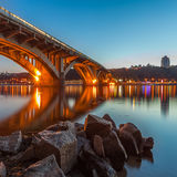 Kyiv Metro bridge Royalty Free Stock Photography