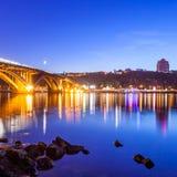Kyiv Metro bridge Royalty Free Stock Images