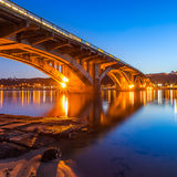 Kyiv Metro bridge Stock Image