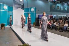 Kyiv-Modefestival 2016 der Mode in Kiew, Ukraine Lizenzfreies Stockfoto