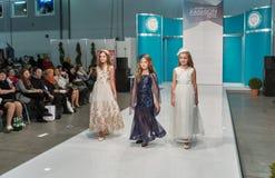Kyiv-Modefestival 2016 der Mode in Kiew, Ukraine Lizenzfreies Stockbild