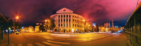 Kyiv Mohyla Academy evening panorama Stock Photography