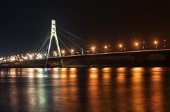 Kyiv, Moskwa most przy nocą Zdjęcie Royalty Free