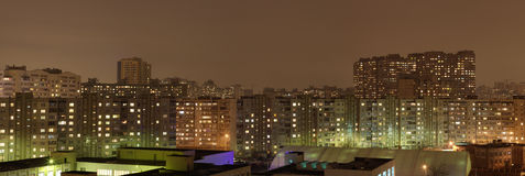 Kyiv night panorama Royalty Free Stock Images