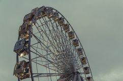 Kyiv observation wheel with spare place for text Royalty Free Stock Photos
