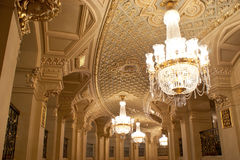The Kyiv Opera theatre hall Royalty Free Stock Photography