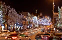 Kyiv på natten Royaltyfri Foto