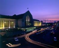 Kyiv-Passazhyrskiy Railway station night view Stock Images
