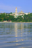 Kyiv Pechers'k Lavra under river Dnipro. Kyievo-Pechers�ka lavra (Kiev Pechersk Lavra), also known as the Kiev Monastery of the Caves, is a historic Orthodox Royalty Free Stock Photo