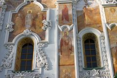 Kyiv-Pechersk Lavra, forntida kristen kloster i Kiev, Ukraina arkivfoton