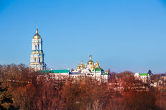 Kyiv Pechersk Lavra panorama in Ukraine Royalty Free Stock Image