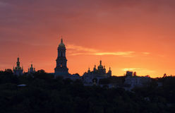 Kyiv Pechersk Lavra at sunset Royalty Free Stock Photos