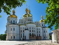 Kyiv Pechersk Lavra Ukraine Europe travel historic. Orthodox Christianity church Cathedral of the Dormition stock photos