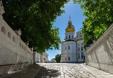 Kyiv Pechersk Lavra Ukraine Europe travel historic. Orthodox Christianity church Cathedral of the Dormition Stock Photo