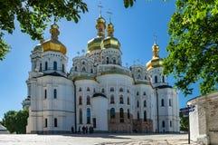Kyiv Pechersk Lavra Ukraine Europe travel historic. Orthodox Christianity church Cathedral of the Dormition Royalty Free Stock Image