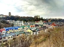 Kyiv. Podol, zamkova gora royalty free stock photography