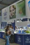 Kyiv-Schmuck-Fabrikstand während des Frühlings-Juweliers  Lizenzfreies Stockfoto