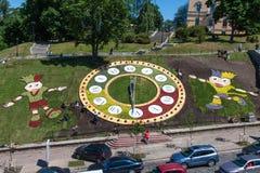 Kyiv se prepara para el euro 2012 Fotografía de archivo libre de regalías