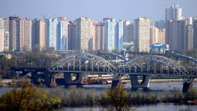 Kyiv train bridge Royalty Free Stock Photos