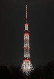 Kyiv TV tower at night Royalty Free Stock Photography